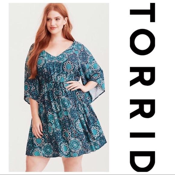 74a02180afaf5 Torrid Kimono Style Dress Size 5X NWT